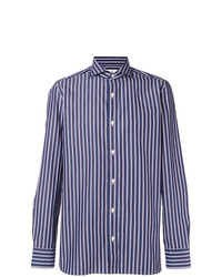 Borrelli Striped Cutaway Collar Shirt