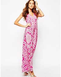 Yumi Kim Hot Summer Night Silk Maxi Dress In Tile Print