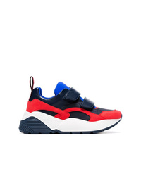 Stella McCartney Black Red And Blue Eclypse 45 Chunky Velcro Sneakers