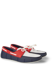 Colour block rubber and mesh boat shoes medium 19974