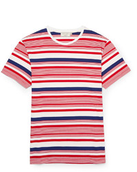 Kitsune Maison Kitsun Striped Cotton Jersey T Shirt