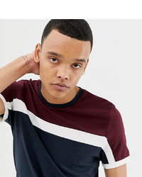 ASOS DESIGN Tall T Shirt With Colour Block In Navy