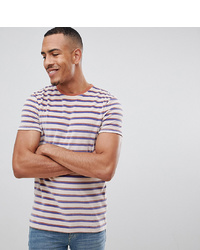 ASOS DESIGN Tall Velour Stripe T Shirt