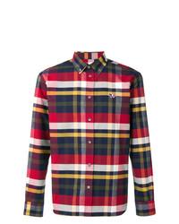 MAISON KITSUNÉ Maison Kitsun Fox Patch Checked Shirt