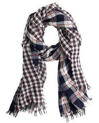 Mixed plaid scarf medium 107758