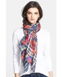 Tan more plaids cashmere silk scarf medium 94658