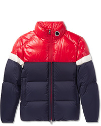 Moncler Konic Slim Fit Colour Block Quilted Shell Down Jacket