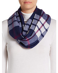 White and Red and Navy Scarf