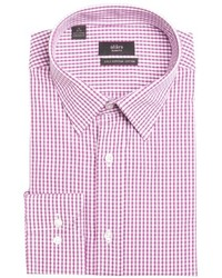 White and Red Check Dress Shirt