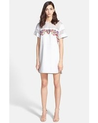 Rebecca Minkoff Victor Embroidered Leather Shift Dress