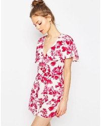 Image result for asos red and white floral playsuit