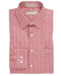 White and Red Gingham Dress Shirt