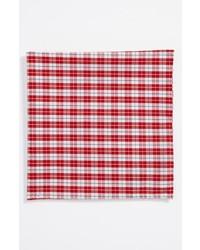 Simon Cotton Pocket Square Red One Size