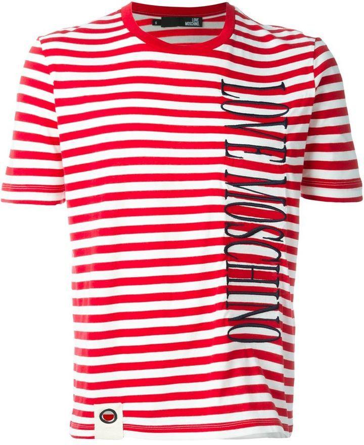 Visitez La Vente En Ligne Moschino Striped T-shirt Jeu À La Mode Le Moins Cher extrêmement Officiel Pas Cher idON6jS