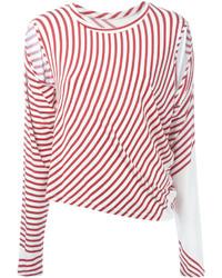 Striped cut out t shirt medium 3666651