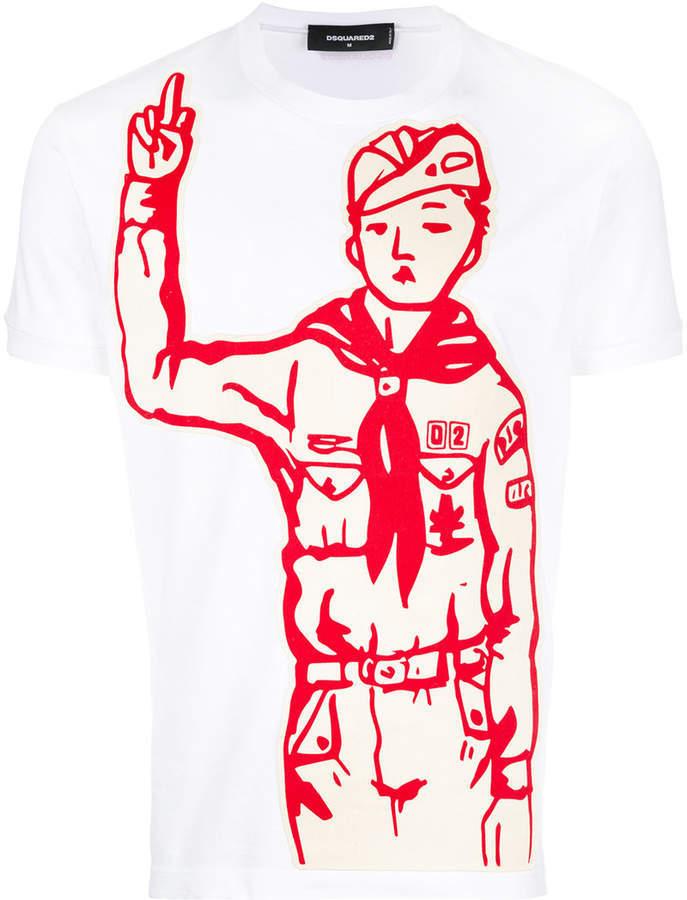 boy Dsquared2 de scout la Camiseta del impresión U8IdwP