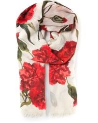 Carnations print scarf medium 125752