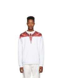 White and Red Print Sweatshirt