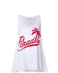 P.A.R.O.S.H. Paradise Sequin Slogan Vest