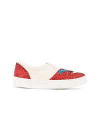 Chiara Ferragni Flirting Glitter Slip On Sneakers