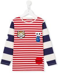 Stella McCartney Kids Striped Patch Applique T Shirt