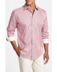 Robert Graham Pietro Tailored Fit Stripe Sport Shirt