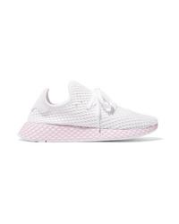 adidas Originals Deerupt Runner Suede Trimmed Mesh Sneakers