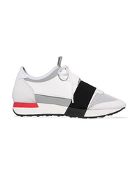 Balenciaga Race Runner Leather Suede Mesh And Neoprene Sneakers
