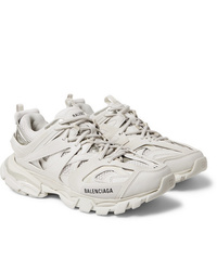 Balenciaga Track Nylon Mesh And Rubber Sneakers