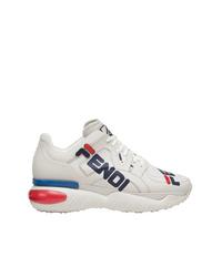 Fendi White Mania Low Top Sneakers