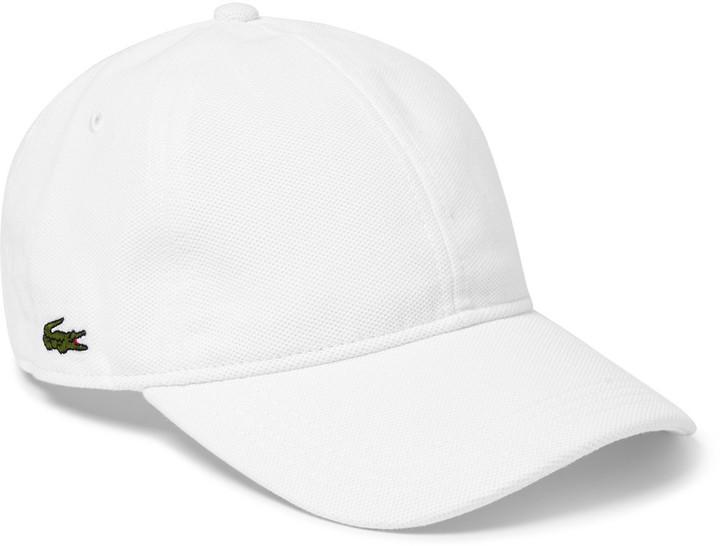 ... White Baseball Caps Lacoste Tennis Performance Cotton Baseball Cap ... 7bf3340d27a
