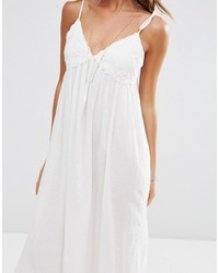 827ba3f685 Asos Lace Cup Babydoll Maxi Beach Dress, £43 | Asos | Lookastic UK