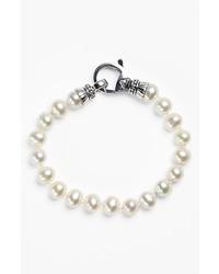 Lagos Luna 75mm Pearl Bracelet Silver Pearl