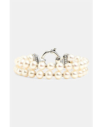 Lagos Luna Double Strand Pearl Bracelet Gold Pearl