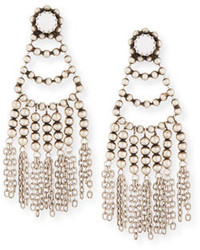 White Beaded Earrings