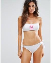 Moschino Flamingo Bandeau Bikini Set