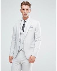 ASOS DESIGN Asos Skinny Suit Jacket In Ice Grey