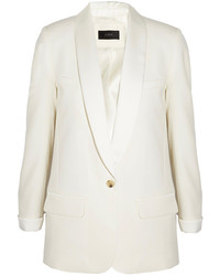 J.Crew Collection Satin Trimmed Wool Piqu Tuxedo Blazer