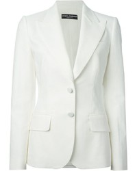 Dolce & Gabbana Patterned Fitted Blazer