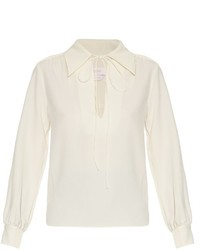 See by Chloe See By Chlo Tie Neck Crepe Blouse