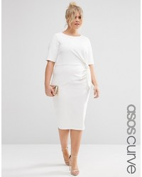 Asos Curve Wiggle Dress With Knot Front