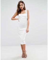 Asos Square Neck Bandage Midi Dress