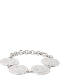 Rhodium plated coin bracelet medium 642329