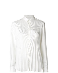 Maison Margiela Pleated Fitted Shirt