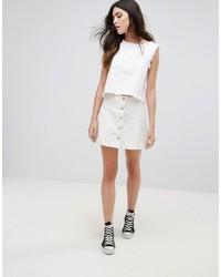 Daisy Street Denim Button Up Skirt