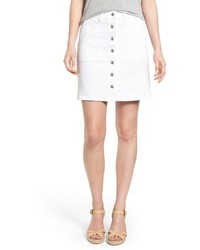 Two By Vince Camuto Button Front A Line Miniskirt