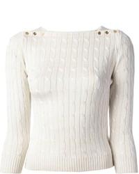 Ralph Lauren Black Cable Knit Sweater