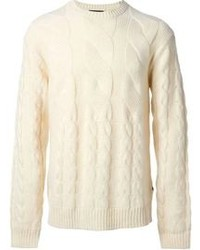 Paul Smith Jeans Chunky Cable Knit Sweater