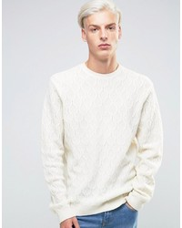 Lambswool rich cable sweater medium 808550