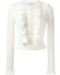Philosophy Di Lorenzo Serafini Cable Knit Ruffled Sweater